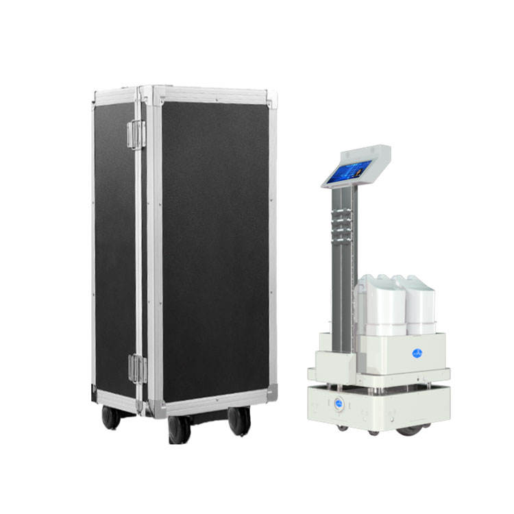 Intelligent Autonomous navigation automatic uv and spraying disinfection robot