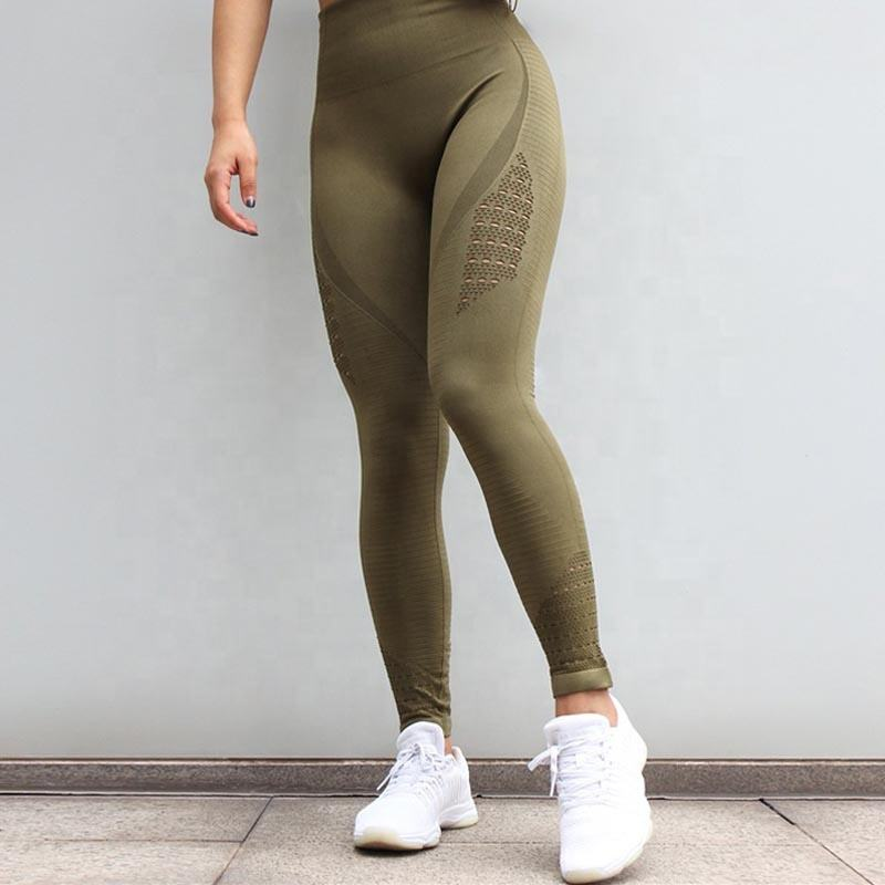 Women Seamless Gym Leggings Customized Logo Sportswear Yoga Pants Leggings
