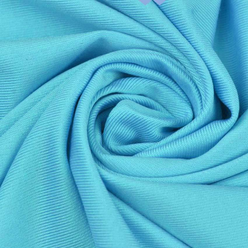 190gsm 90% polyester 10% spandex FDY lycra extensible 4 voies jersey tissu pour robe