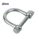 china manufacture stainless steel wide lifting Dee type ss304 or ss316 C shackle