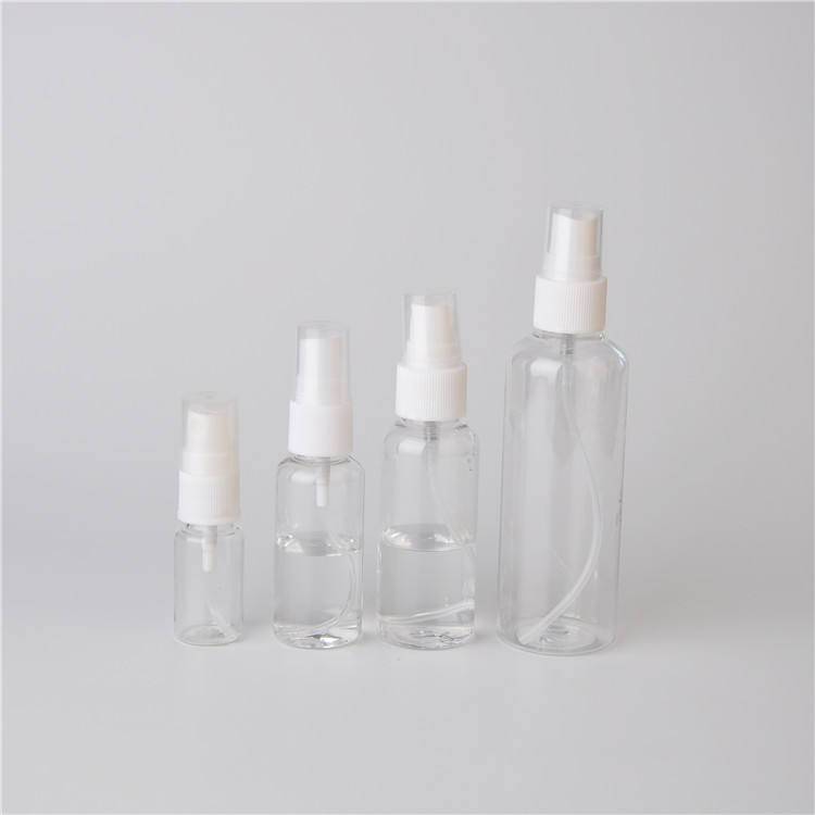 High Quality Luxury 100Ml 150Ml 200Ml Luxury Alcohol Bottle Clear Plastic Spray