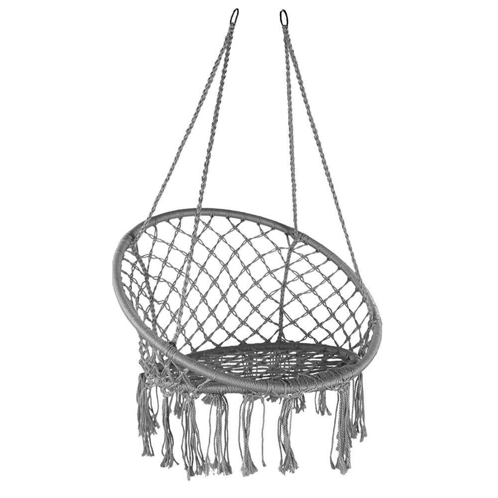 Patio Swing HR Polycotton Rope hanging swing, garden hanging chair, bedroom hammock swing