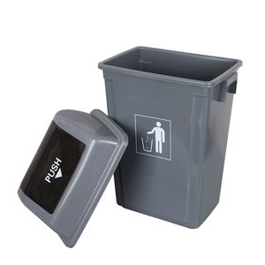 13 gallon kitchen waste bin plastic trash can with lid