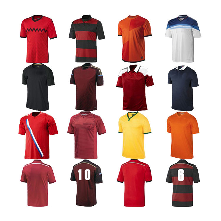 OEM Custom Made Plain Blank Striped Soccer Uniform Football Jerseys Soccer jersey Set