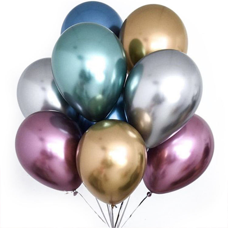 Balloons wholesale 10inch Glossy Metal Pearl Latex Balloons Thick Chrome Metallic Colors helium Air Balls Globos