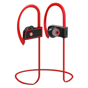 New arrived true wireless earbuds sport stereo earphone red flat mini in ear wireless earphone