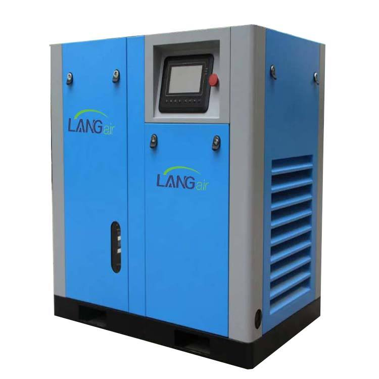 High Efficiency Variable Frequency Motor 30HP 22KW 130 CFM Direct Driven Screw Air Compressor