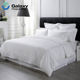 White Cotton Streak Hotel Bedding Sets 4 Pc Bed Sheet Set Solid Color Duvet Cover Bed Sheet