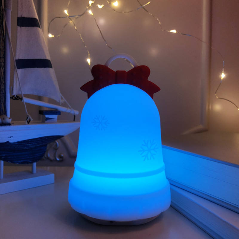 7 Colorful Jingling Bell Pat Pat Remote Control Silicone Table Night light Baby Lamp for sale