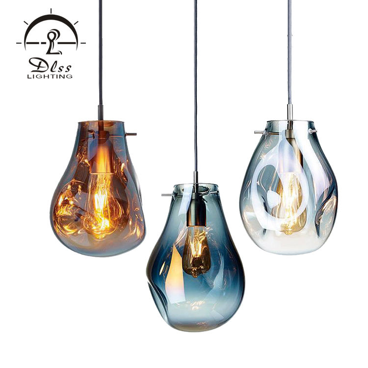 2020 Hot Sale Contemporary 220v Color Glass Chandeliers & lamp For Home Decoration