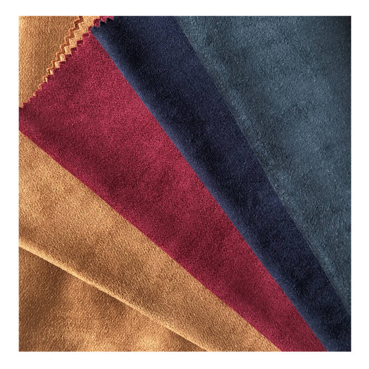 Suede wholesale spandex polyester bengaline suede woven fabric for men/wowen's clothing