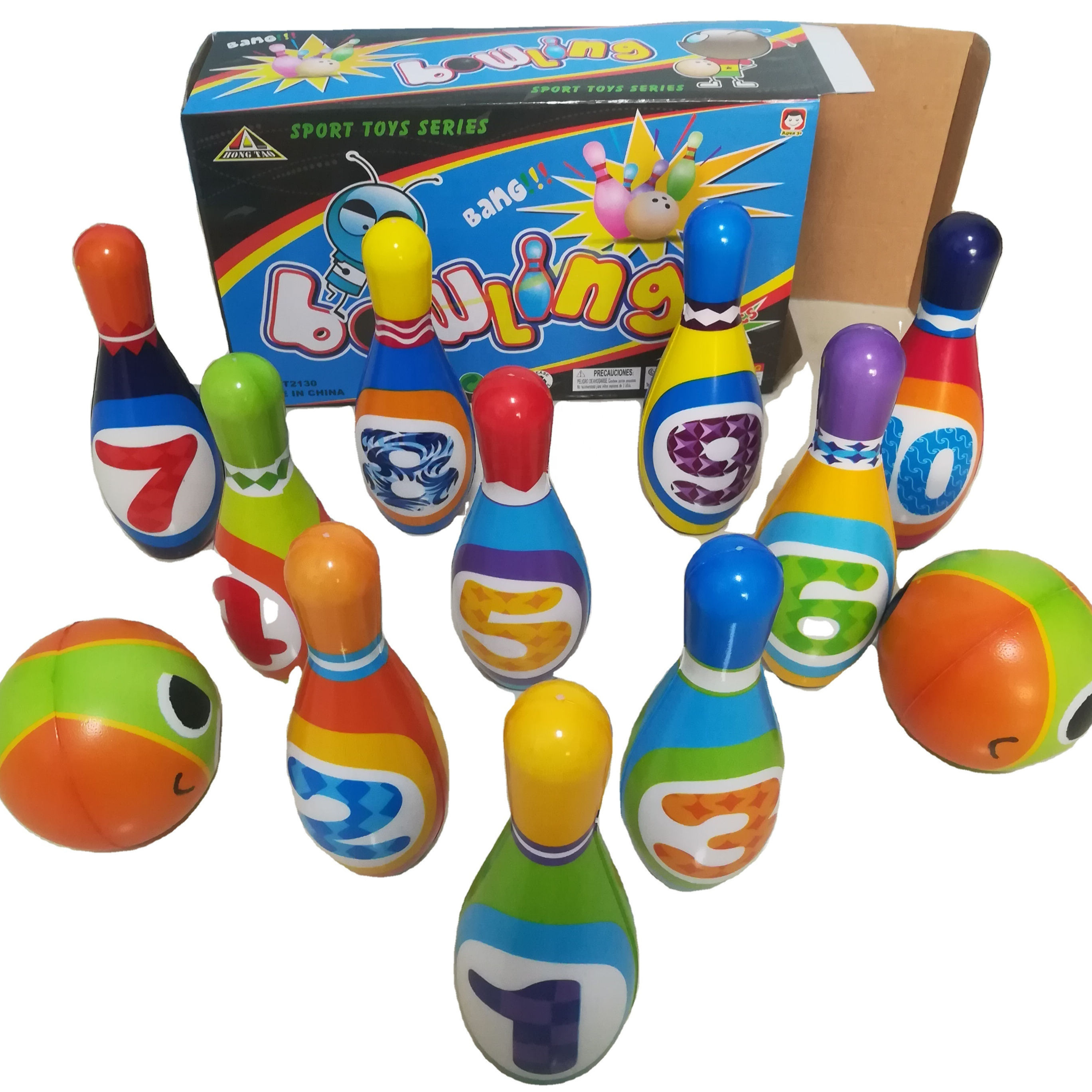 Bowling Game Toy PU Material Bowling Ball set For Kids