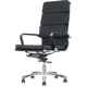 SL-1225A 40 density high elastic sponge leather office guest swivel chair with footrest