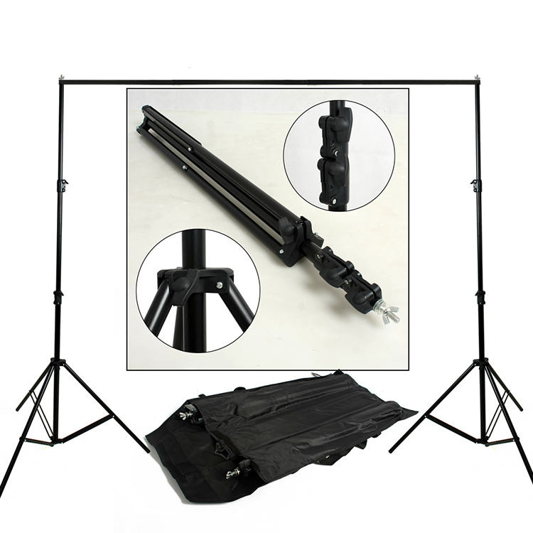 Photo Video Studio 10Ft Backdrop Support System Kit Adjustable Background Stand with Carry Bag