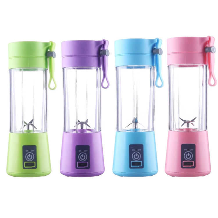 2020 Hot selling usb rechargeable home appliances 6 blades juicer mixer hand blender mini portable blender