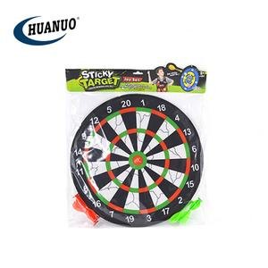 Kids educational sport shooting game toy 42cm double-sided Indoor safety sticky cloth dartboard