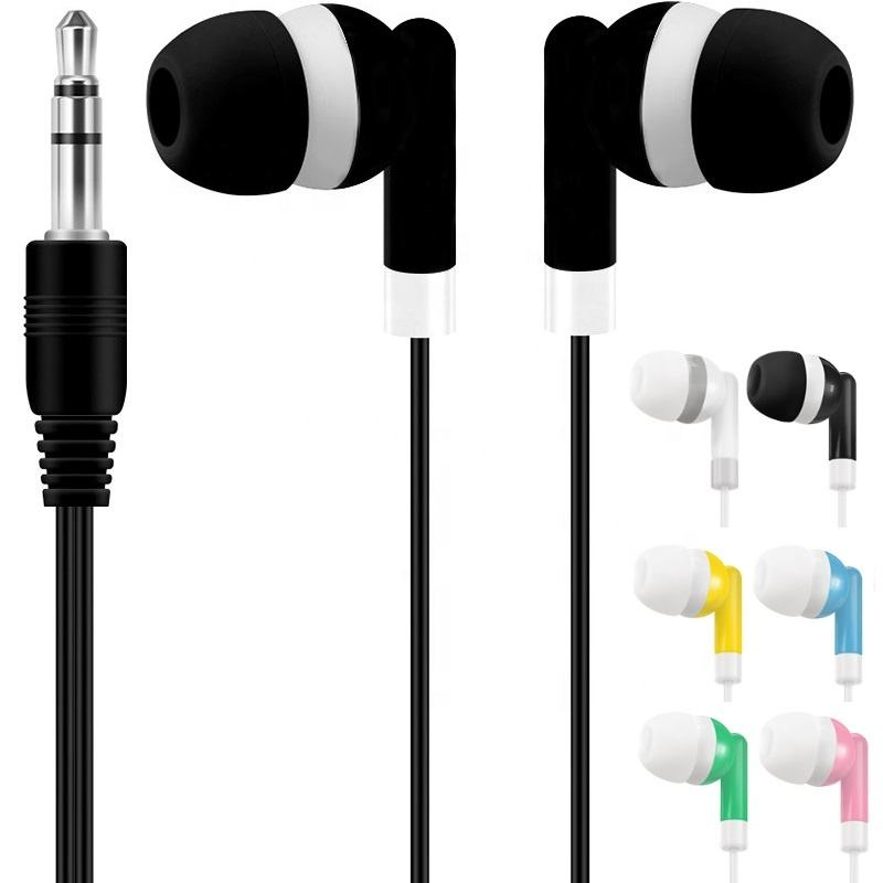 Fashion Disposable Earphone Earbuds 3.5mm jack Inner Earphones For iphone Samsung Mp3 Mp4 Mini Media Player
