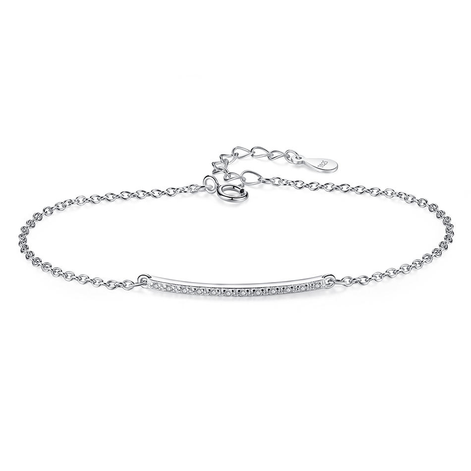 High Quality Authentic 925 Sterling Silver Simple Bracelet for Women Bracelets Fashion Jewelry