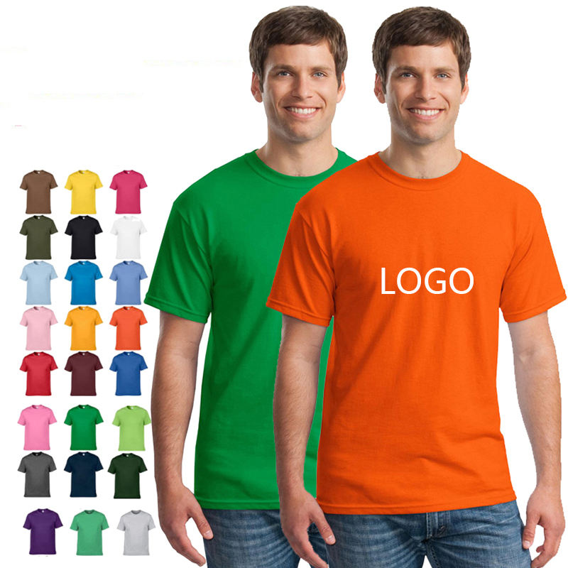 High Quality 100% Cotton Custom Label Private T-Shirt Mens Printing Your Brand Logo T Shirt