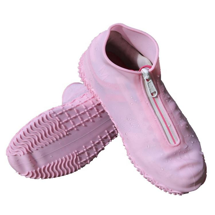 Reusable safe non slip silicone shoe covers waterproof rubber rain boots