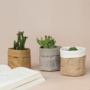 Home Decorative Set Kraft Paper Desktop Flower Pot Bag