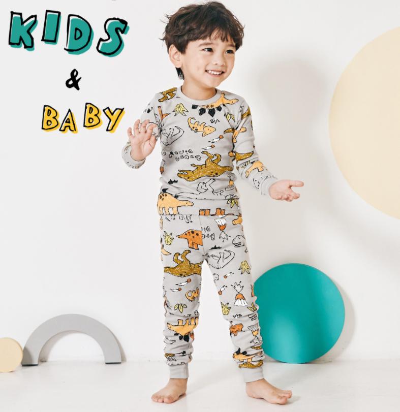 نموذج جديد القطن ملابس خاصة الصبي ديناصور الملابس منامة الأطفال للفتيات صبي