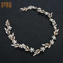 Wholesale wedding hair accessories gold rhinestone crown tiaras