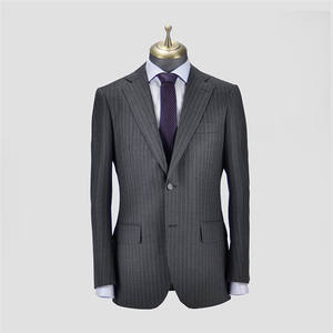 Factory direct selling high quality slim fit mens fashion business woolen long suits