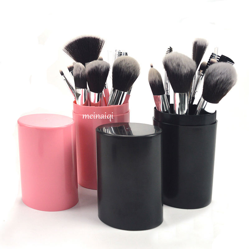 12pcs professional private Label wholesale kabuki cosmetic Make Up Brush makeup brush set with cylinder case