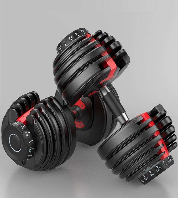 Free Shipping Fitness 16KG Dumbbells Pairs of Weights Round 35 lb Adjustable Dumbbell Weights Dumbbells Equipment in Stock