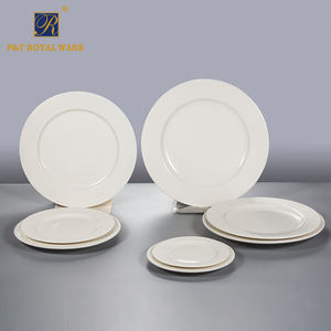 High quality 6 inch ceramic flat cake plate for restaurant
