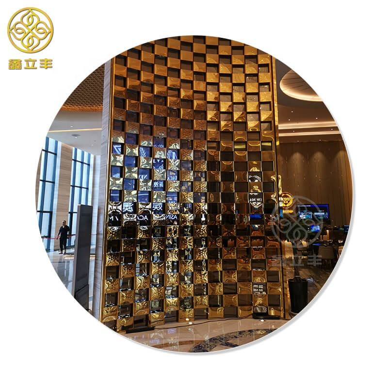 Xinlifeng Factory Stainless Steel Metal decorative room screens separators dividers partitions panels