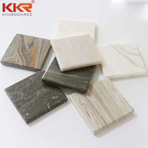 Marble Resin Solid Surface 6mm 8mm 12mm Corians Veining Acrylic Solid Surface Sheet Shower Wall Panels