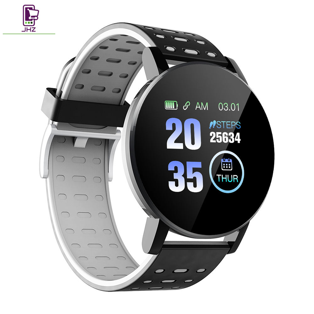 2020 Nieuwste Mannen Lady Sport Smart Fit Band 119 Plus Cirkel En Ronde Smart Band Armband