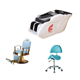 Hair salon furniture system barber chair stool chair shampoo bed