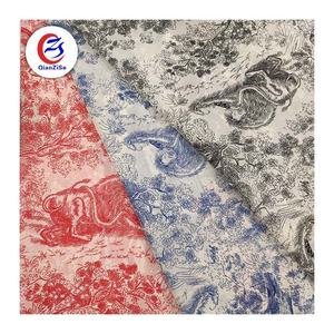 100% Polyester Fashion Designer Fabric Floral Printed Satin Fabric In Follow Patterns