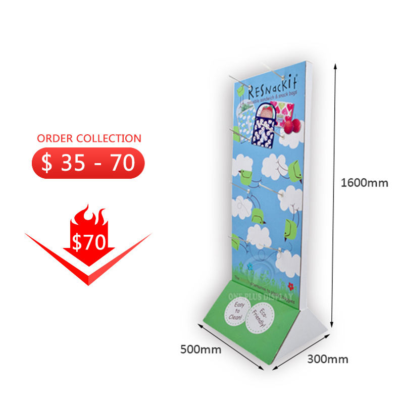 Hot Deal [ Advertising Floor Stand ] Cardboard Pop Floor Stand Advertising Pop Socks Hanging Hook Display Rack Espositore Gloves Paper Cardboard Hooks Floor Display Stand For Retail