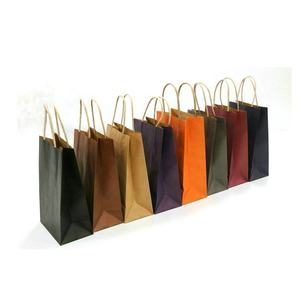Hot Sale Cheap Green Color Eco Friendly Craft Fashion Paper Bags with paper Handle