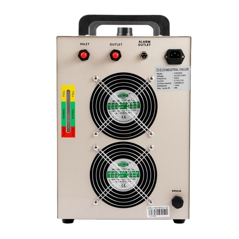 Chiller Air Industri Mesin untuk 80-100W <span class=keywords><strong>CO2</strong></span> Tabung Kaca CW5000 Chiller