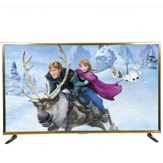 China wholesale luxury gold color Smart Television 75 inch led tv UHD flat screen