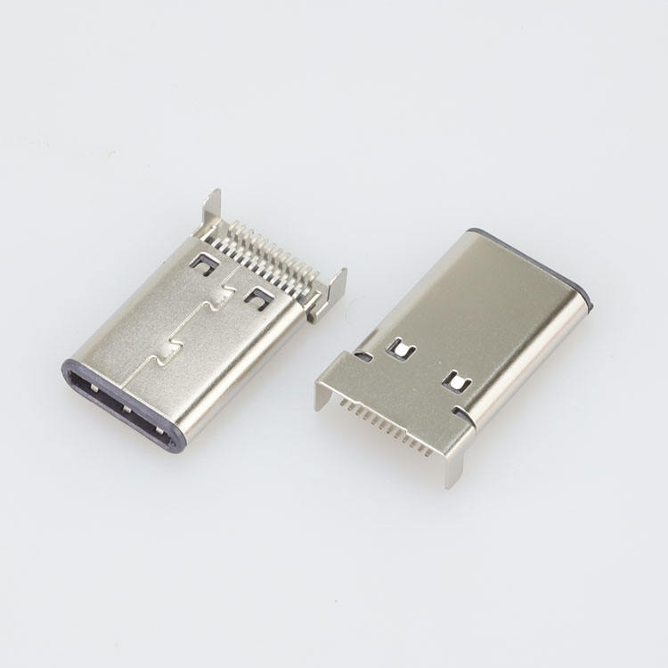 Top Selling Usb C Type Man 24Pin Sinking Haakse Smt Connector