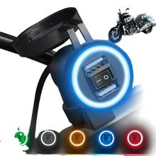 New Trending Motorcycle Accessories 9-24V Motorbike Phone Charger 1A/2.1A Dual USB Socket LED Light Motorcycle Phone Charger