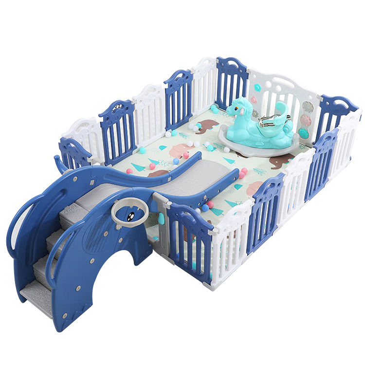 2021 New Arrivals Supporting Samples Inflatable Fence Plastic removable portable Safety Baby Playpen For European Standard