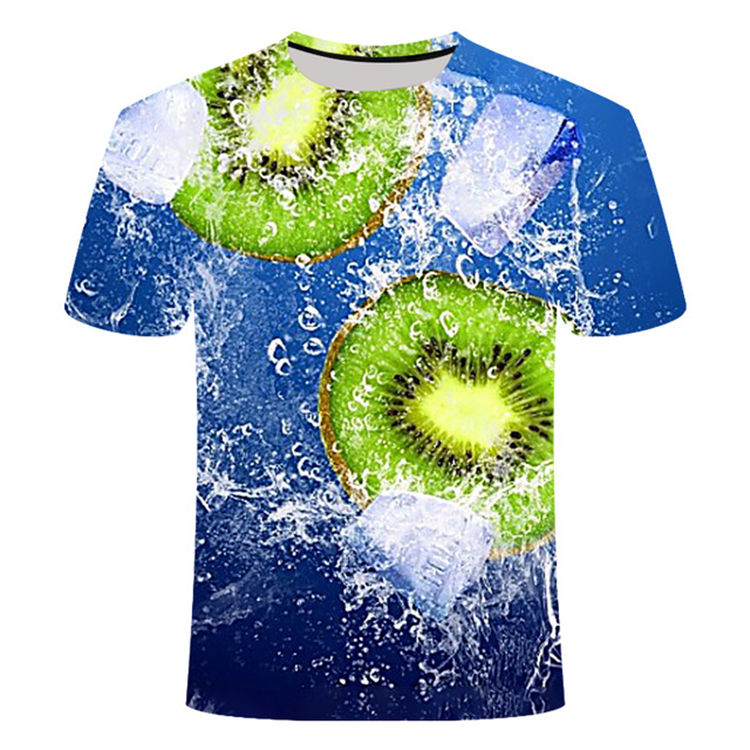 Novelty summer fruit pattern 3D printing t-shirt top new men and women sublimation casual clothes