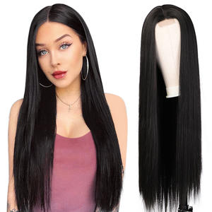 Vigorous 30 inches Middle Part Long Straight Hair Lace Front Wig Ombre Heat Resistant Full Cheap Woman Synthetic Hair Wigs