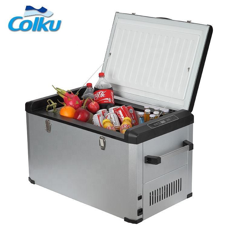24V [ Refrigerator Mini ] 24v Refrigerator Colku Camping 80 Liters Fridge Compressor Car Refrigerator 12 / 24V Dc Compressor Mini Car Refrigerator And Freezer