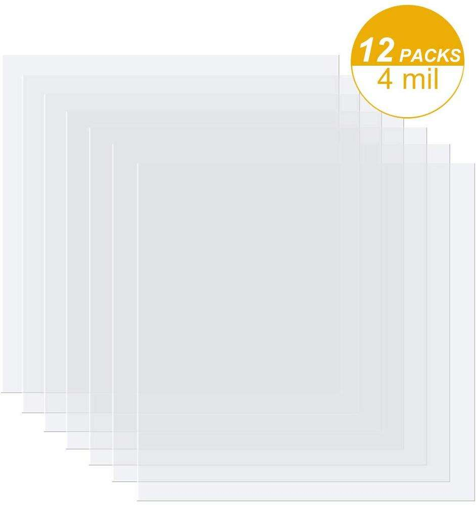 Amazon Hot Selling 12x12inch 12 Pieces 7 mil Blank Stencil Material Mylar Template Sheets for Stencils