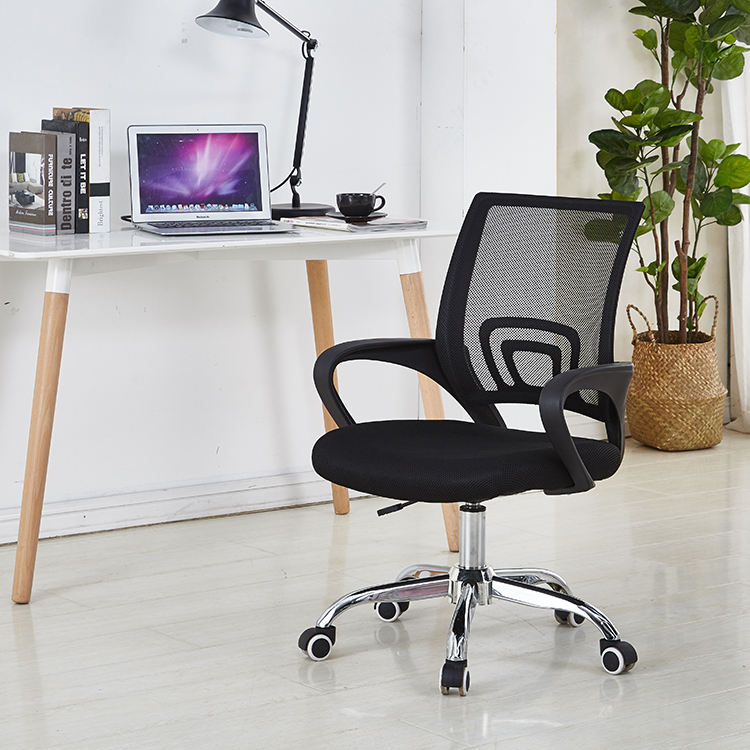 Modern mesh back ergonomic laboratory design chrome legs round base swivel rolling executive office chair