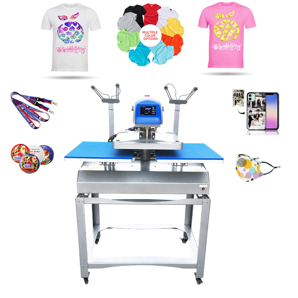 Electric Automatic Double Side Station Design T Shirt Logo Printing Heat Transfer Press Machine With Laser Alignment Buy Heat Transfer Press Double Station Heat Press Machine Logo Printing Machine Product On Alibaba Com