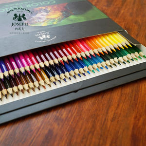 Hot selling 72 colors natural wooden multi colored pencils bulk with box